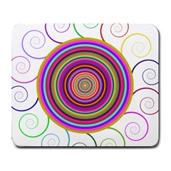 Abstract Spiral Circle Rainbow Color Large Mousepads