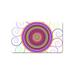 Abstract Spiral Circle Rainbow Color Magnet (name Card) by Alisyart