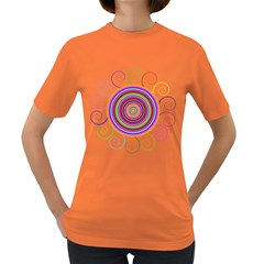 Abstract Spiral Circle Rainbow Color Women s Dark T Shirt