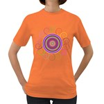 Abstract Spiral Circle Rainbow Color Women s Dark T-Shirt Front