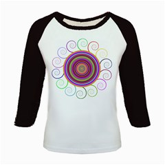 Abstract Spiral Circle Rainbow Color Kids Baseball Jerseys