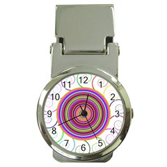 Abstract Spiral Circle Rainbow Color Money Clip Watches by Alisyart