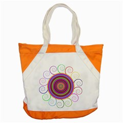 Abstract Spiral Circle Rainbow Color Accent Tote Bag by Alisyart