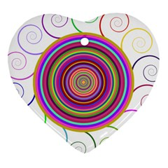 Abstract Spiral Circle Rainbow Color Heart Ornament (two Sides) by Alisyart