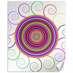 Abstract Spiral Circle Rainbow Color Canvas 11  X 14   by Alisyart