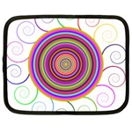 Abstract Spiral Circle Rainbow Color Netbook Case (Large) Front