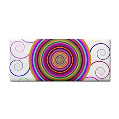 Abstract Spiral Circle Rainbow Color Cosmetic Storage Cases by Alisyart