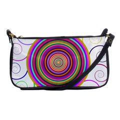 Abstract Spiral Circle Rainbow Color Shoulder Clutch Bags by Alisyart