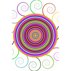 Abstract Spiral Circle Rainbow Color 5 5  X 8 5  Notebooks by Alisyart