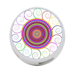 Abstract Spiral Circle Rainbow Color 4 Port Usb Hub (two Sides)  by Alisyart