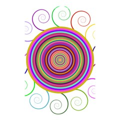 Abstract Spiral Circle Rainbow Color Shower Curtain 48  X 72  (small)