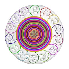Abstract Spiral Circle Rainbow Color Ornament (round Filigree) by Alisyart