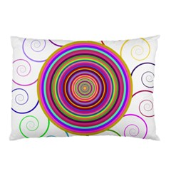 Abstract Spiral Circle Rainbow Color Pillow Case (two Sides)