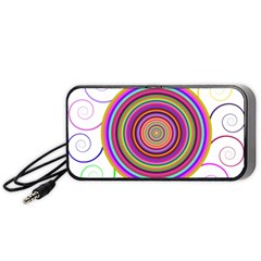 Abstract Spiral Circle Rainbow Color Portable Speaker (black) by Alisyart