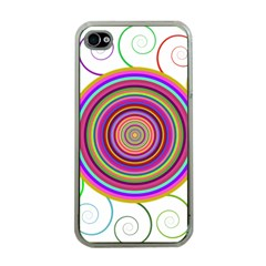 Abstract Spiral Circle Rainbow Color Apple Iphone 4 Case (clear) by Alisyart