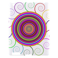 Abstract Spiral Circle Rainbow Color Apple Ipad 3/4 Hardshell Case by Alisyart