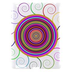 Abstract Spiral Circle Rainbow Color Apple Ipad 3/4 Hardshell Case (compatible With Smart Cover) by Alisyart