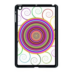Abstract Spiral Circle Rainbow Color Apple Ipad Mini Case (black) by Alisyart