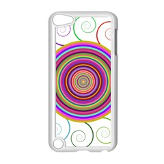 Abstract Spiral Circle Rainbow Color Apple Ipod Touch 5 Case (white) by Alisyart