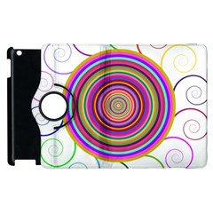 Abstract Spiral Circle Rainbow Color Apple Ipad 2 Flip 360 Case by Alisyart