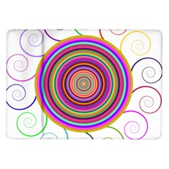 Abstract Spiral Circle Rainbow Color Samsung Galaxy Tab 10 1  P7500 Flip Case by Alisyart