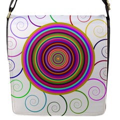 Abstract Spiral Circle Rainbow Color Flap Messenger Bag (s) by Alisyart