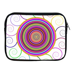 Abstract Spiral Circle Rainbow Color Apple Ipad 2/3/4 Zipper Cases by Alisyart