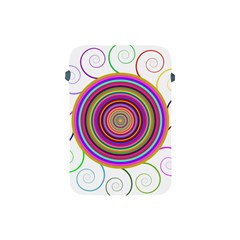 Abstract Spiral Circle Rainbow Color Apple Ipad Mini Protective Soft Cases by Alisyart