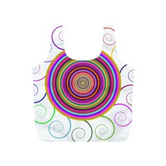 Abstract Spiral Circle Rainbow Color Full Print Recycle Bags (s)  by Alisyart