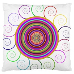 Abstract Spiral Circle Rainbow Color Standard Flano Cushion Case (two Sides) by Alisyart