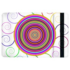Abstract Spiral Circle Rainbow Color Ipad Air 2 Flip by Alisyart