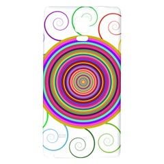Abstract Spiral Circle Rainbow Color Galaxy Note 4 Back Case by Alisyart
