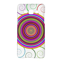 Abstract Spiral Circle Rainbow Color Samsung Galaxy A5 Hardshell Case  by Alisyart