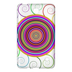 Abstract Spiral Circle Rainbow Color Samsung Galaxy Tab 4 (8 ) Hardshell Case  by Alisyart
