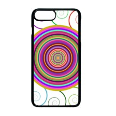 Abstract Spiral Circle Rainbow Color Apple Iphone 7 Plus Seamless Case (black) by Alisyart