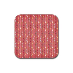 Circle Red Freepapers Paper Rubber Square Coaster (4 Pack)  by Alisyart