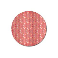 Circle Red Freepapers Paper Magnet 3  (round)