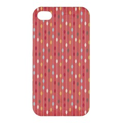 Circle Red Freepapers Paper Apple Iphone 4/4s Premium Hardshell Case by Alisyart