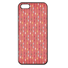 Circle Red Freepapers Paper Apple Iphone 5 Seamless Case (black)