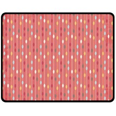 Circle Red Freepapers Paper Double Sided Fleece Blanket (medium)  by Alisyart