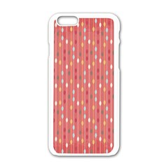Circle Red Freepapers Paper Apple Iphone 6/6s White Enamel Case