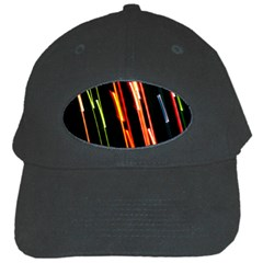 Colorful Diagonal Lights Lines Black Cap by Alisyart