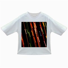 Colorful Diagonal Lights Lines Infant/toddler T Shirts by Alisyart