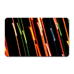 Colorful Diagonal Lights Lines Magnet (rectangular) by Alisyart