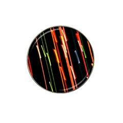 Colorful Diagonal Lights Lines Hat Clip Ball Marker by Alisyart