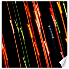Colorful Diagonal Lights Lines Canvas 12  X 12   by Alisyart
