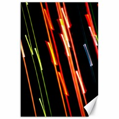Colorful Diagonal Lights Lines Canvas 20  X 30   by Alisyart