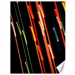 Colorful Diagonal Lights Lines Canvas 36  X 48   by Alisyart