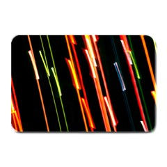 Colorful Diagonal Lights Lines Plate Mats by Alisyart