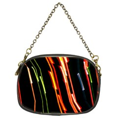 Colorful Diagonal Lights Lines Chain Purses (two Sides)  by Alisyart